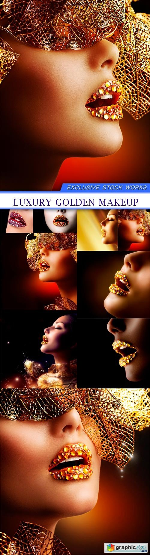 Luxury Golden Makeup 9X JPEG
