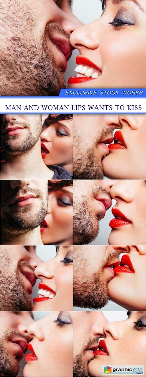 Man and woman lips wants to kiss 8x JPEG
