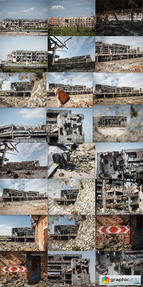 Donetsk airport. The consequences of Russian military aggression in Ukraine