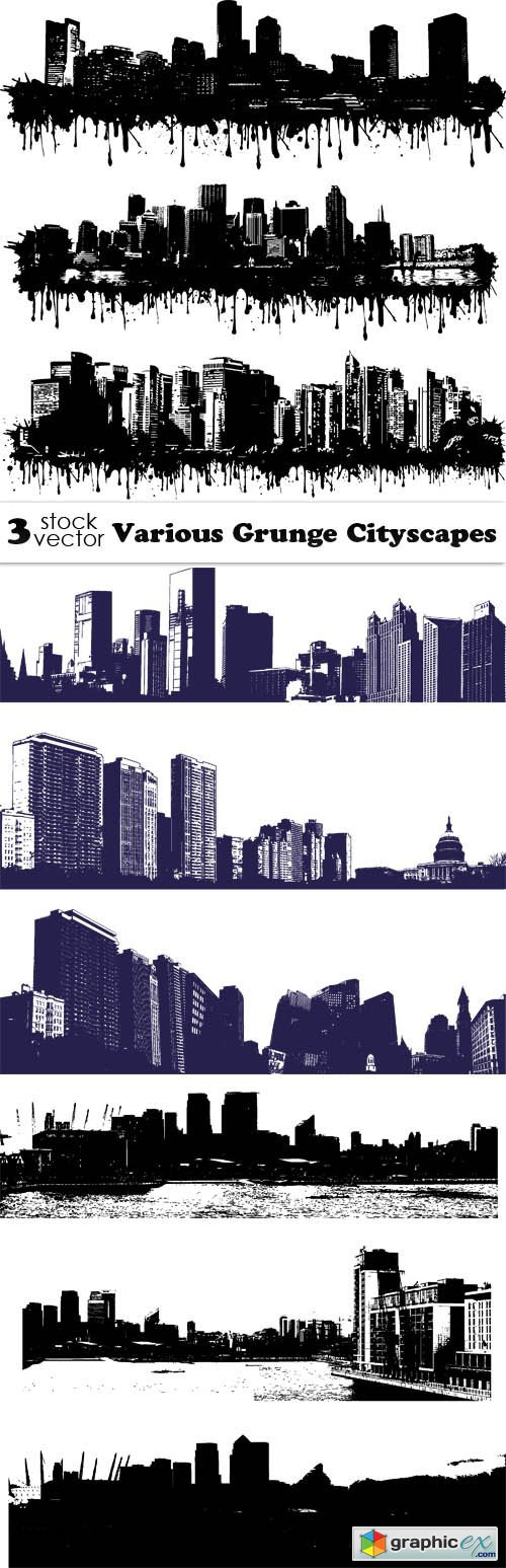 Various Grunge Cityscapes