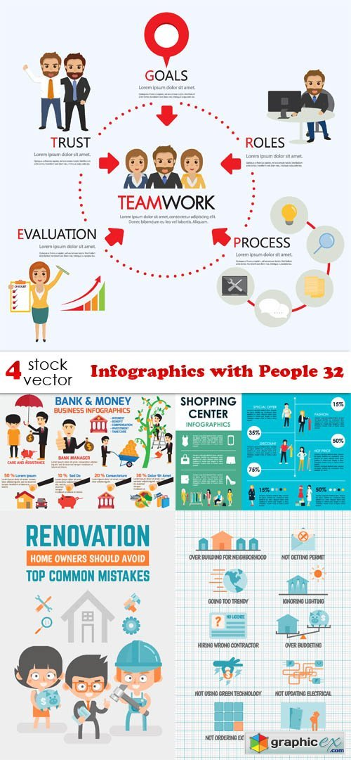 Infographics with People 32