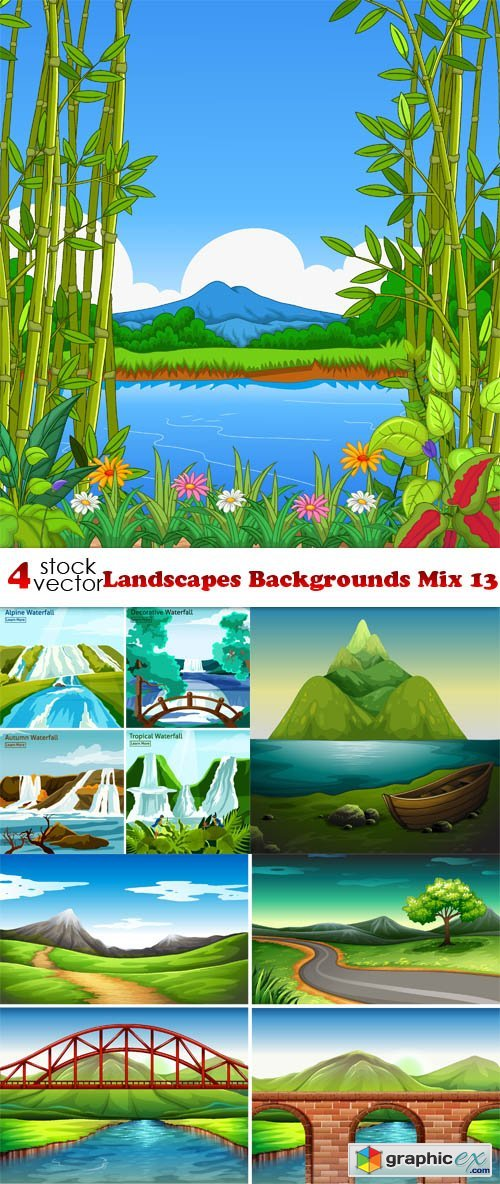 Landscapes Backgrounds Mix 13
