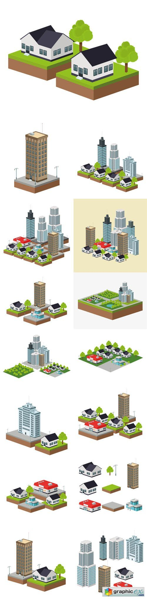 Building of City.Isometric Design