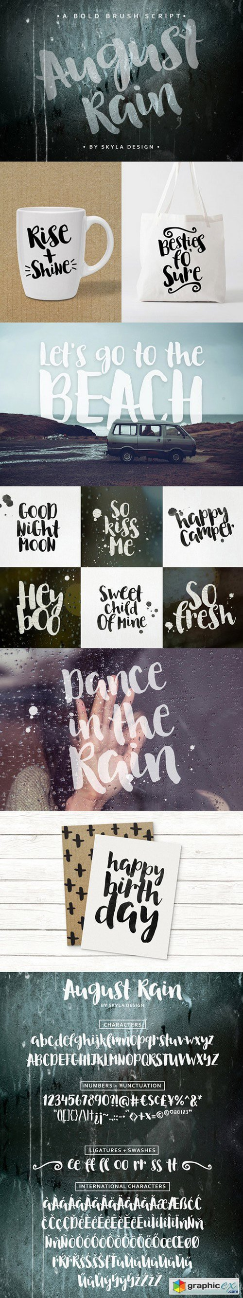 Brush font - August Rain