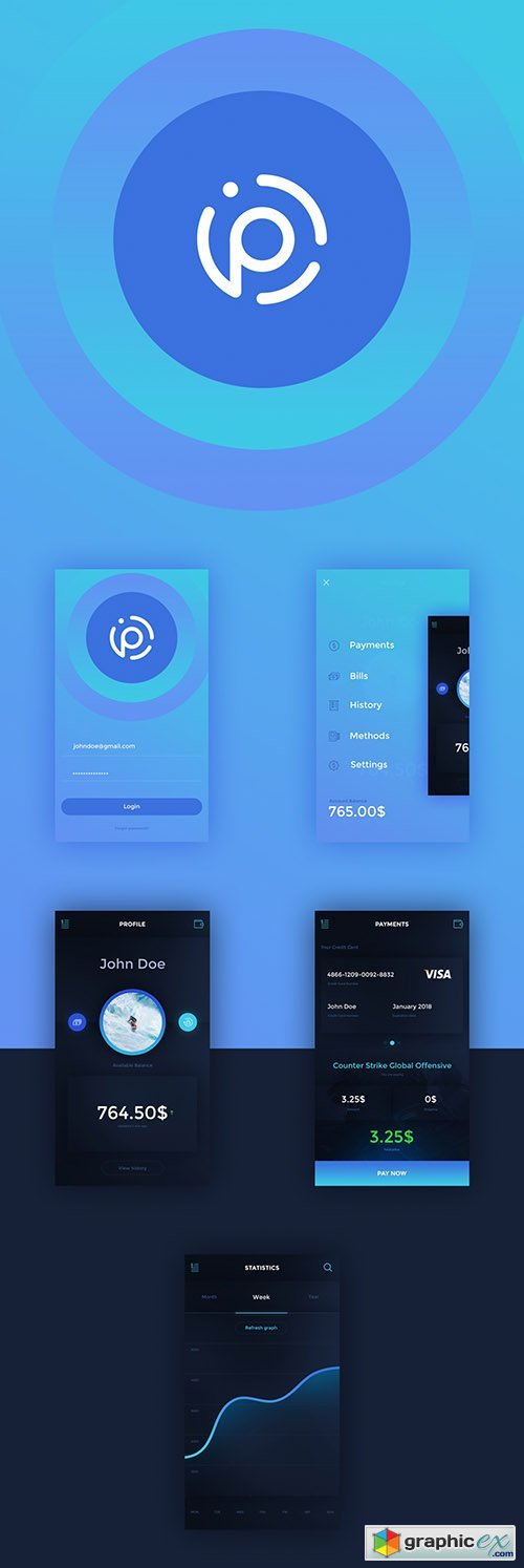 PSD Mobile App - Payme