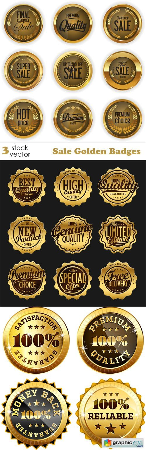 Sale Golden Badges