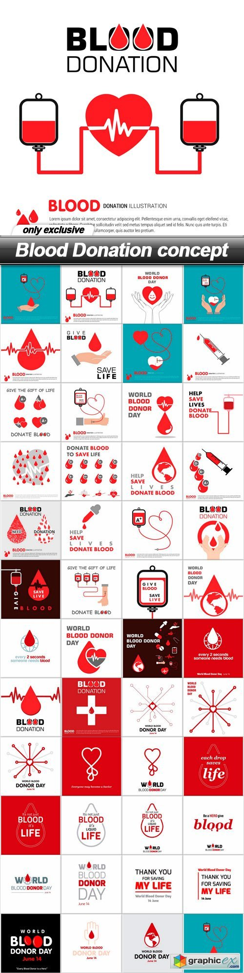 Blood Donation concept - 47 EPS