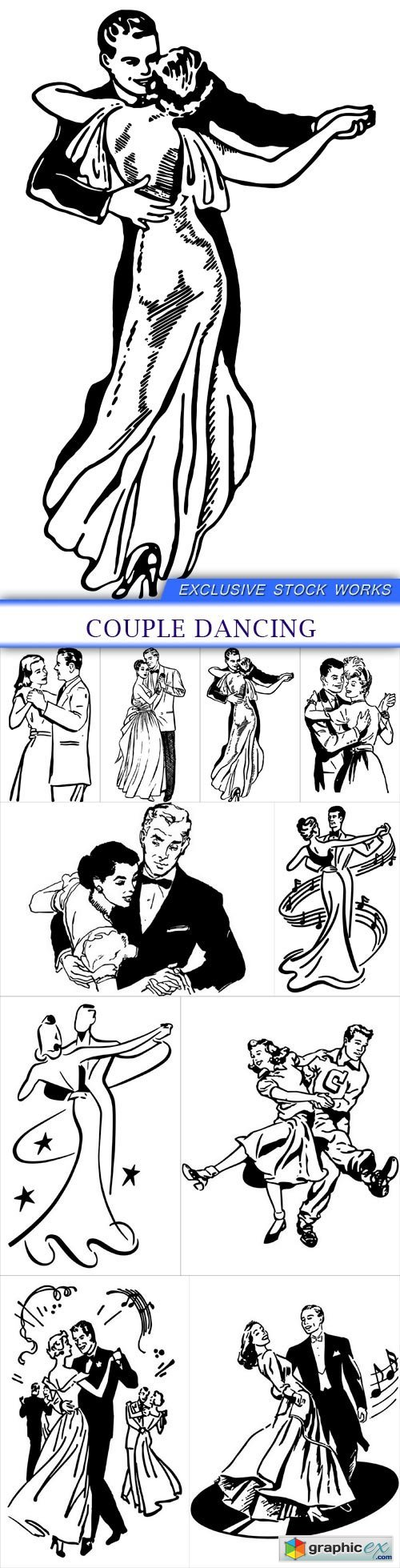 Couple Dancing 10X EPS