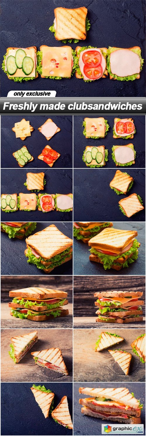 Freshly made clubsandwiches - 12 UHQ JPEG