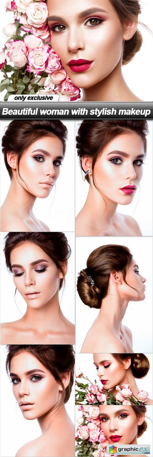 Beautiful woman with stylish makeup - 7 UHQ JPEG