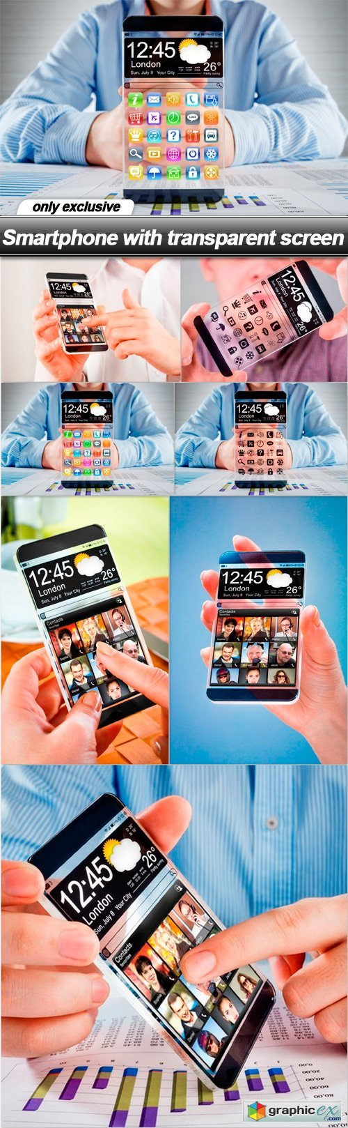 Smartphone with transparent screen - 7 UHQ JPEG