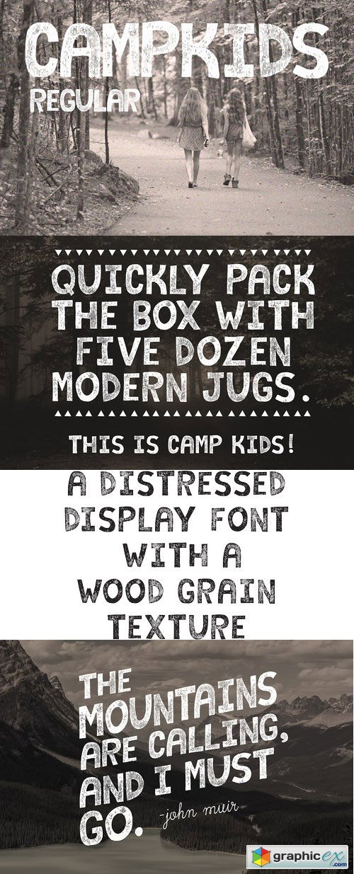 Camp Kids Font » Free Download Vector Stock Image Photoshop Icon