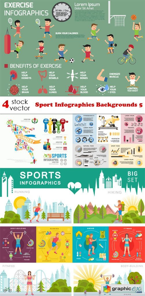 Sport Infographics Backgrounds 5