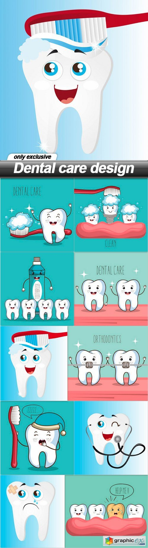 Dental care design - 10 EPS