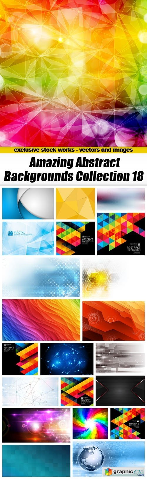 Amazing Abstract Backgrounds Collection 18 - 22xEPS
