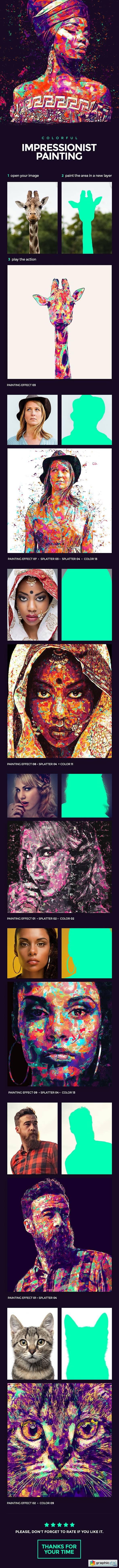 Impressionist Painting Photoshop Action