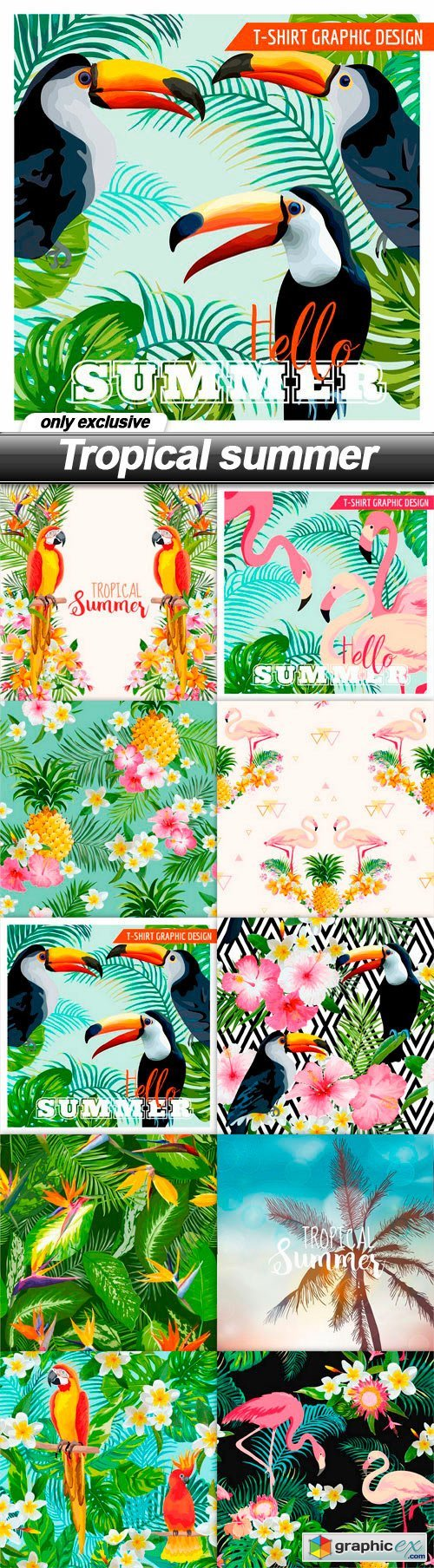 Tropical summer - 10 EPS