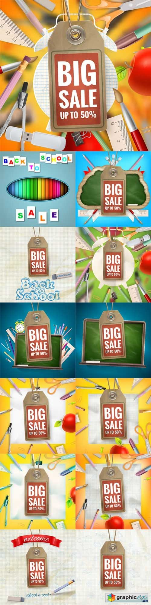 Back to School Sale Backgrounds