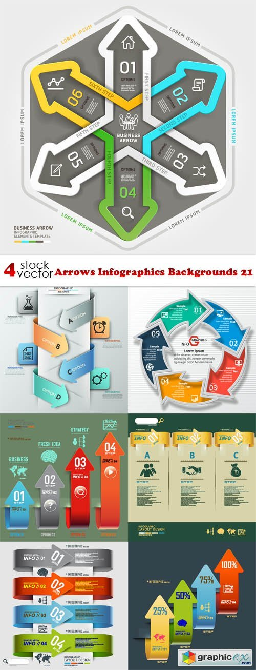 Arrows Infographics Backgrounds 21