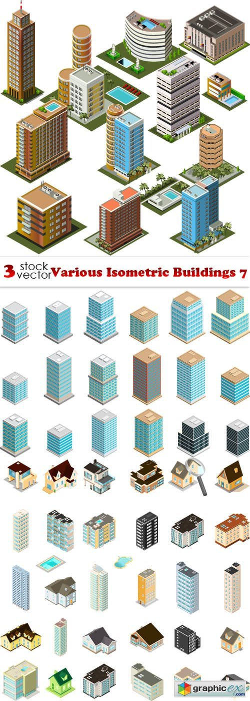 Various Isometric Buildings 7