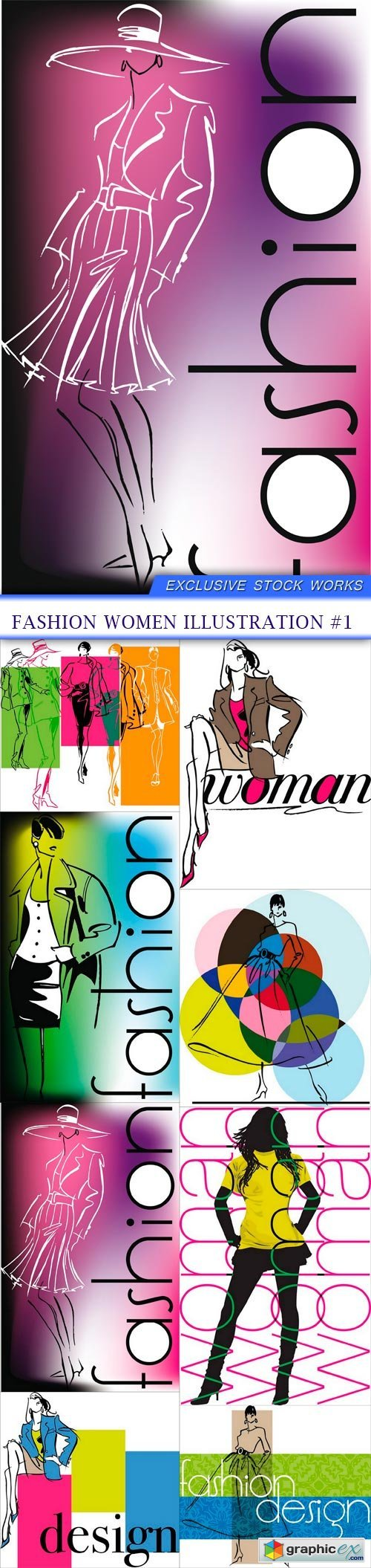 Fashion Women illustration #1 8X EPS