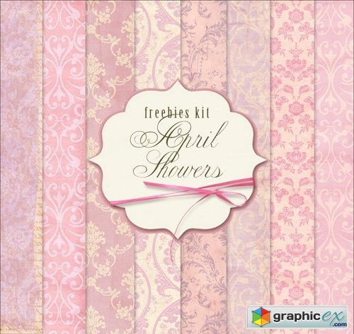 Ornamental Background Textures - April Showers