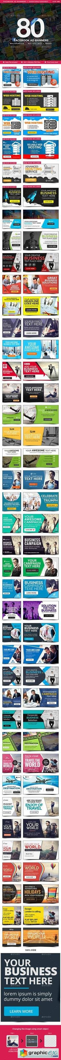 Facebook Ads - 40 Designs - 80 Banners