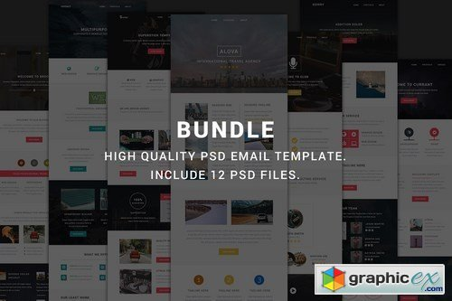 Modern Bundle - Include 12 PSD email