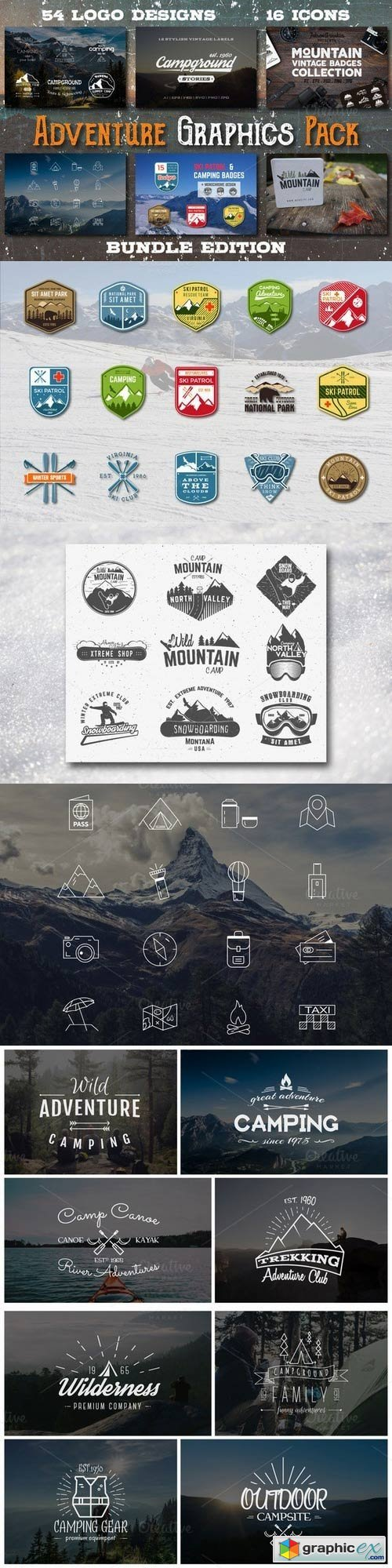 Adventure Graphics Pack » Free Download Vector Stock Image