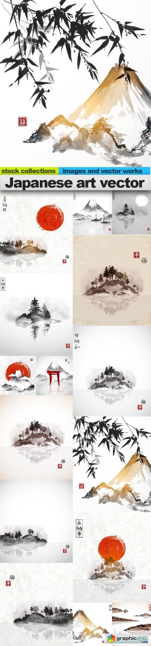 Japanese art vector 2, 15 x EPS