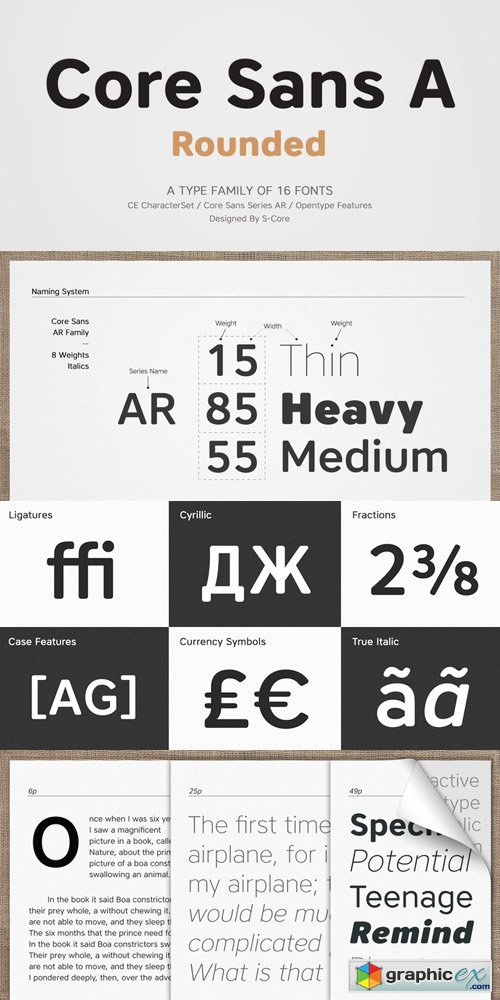 Core Sans AR Font Family » Free Download Vector Stock Image