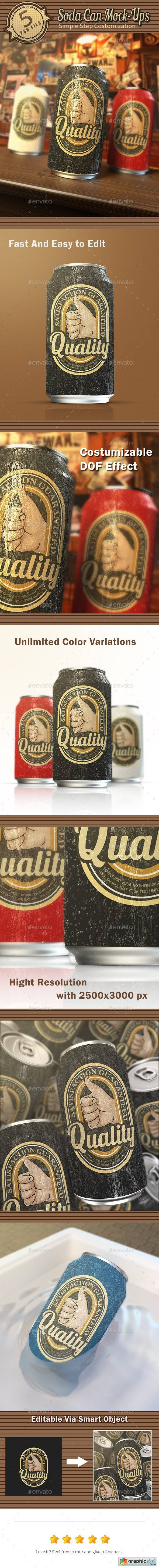 Soda Can Mock-Ups 10406786