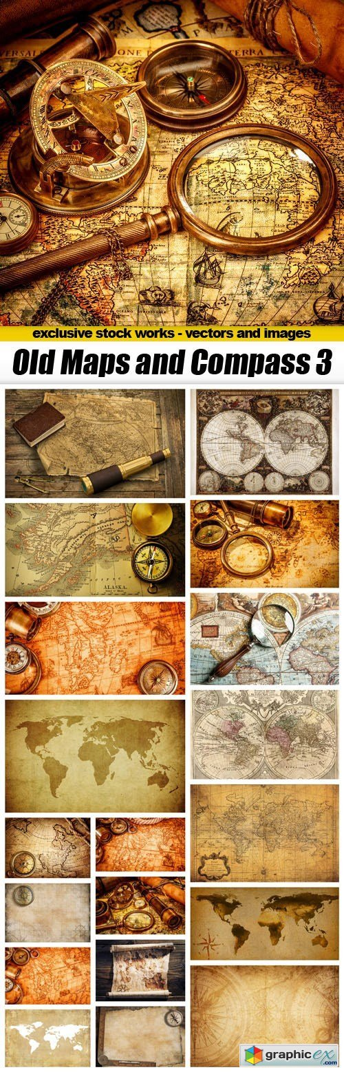 Old Maps and Compass 3 - 20xUQH JPEG