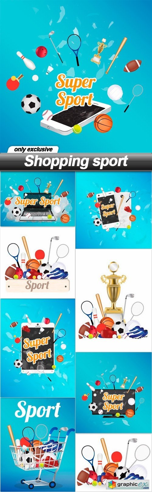 Shopping sport - 9 EPS