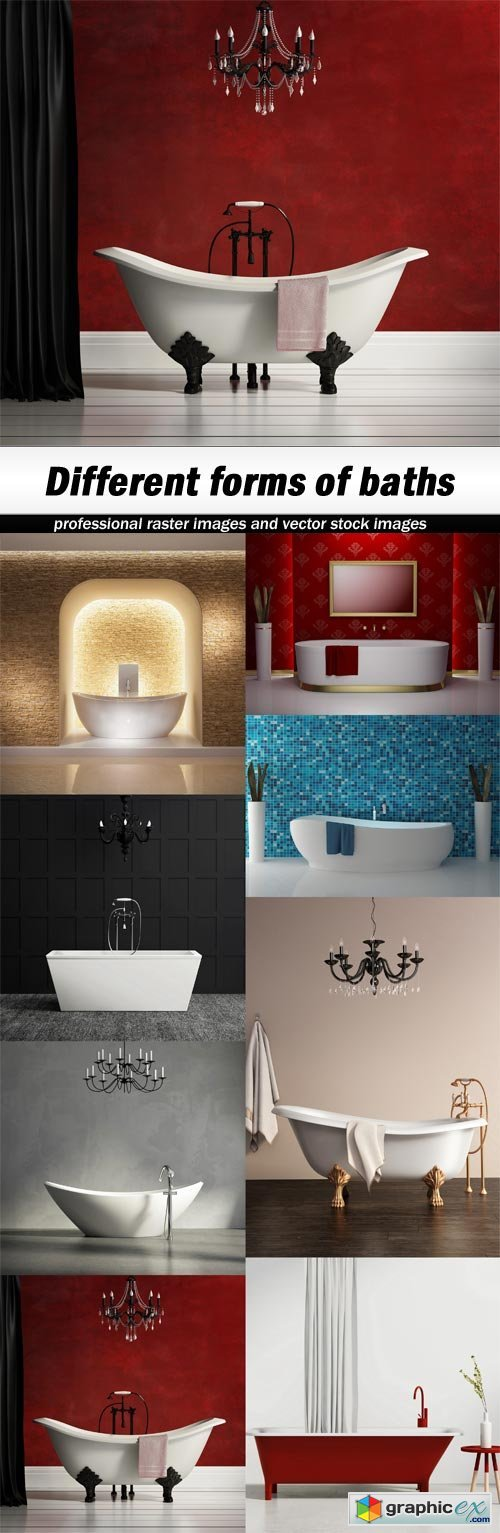 Different forms of baths - 8 UHQ JPEG