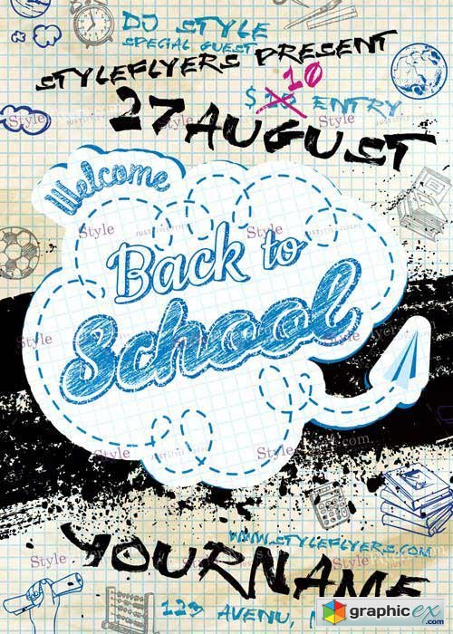 Back To School Flyer PSD Flyer Template