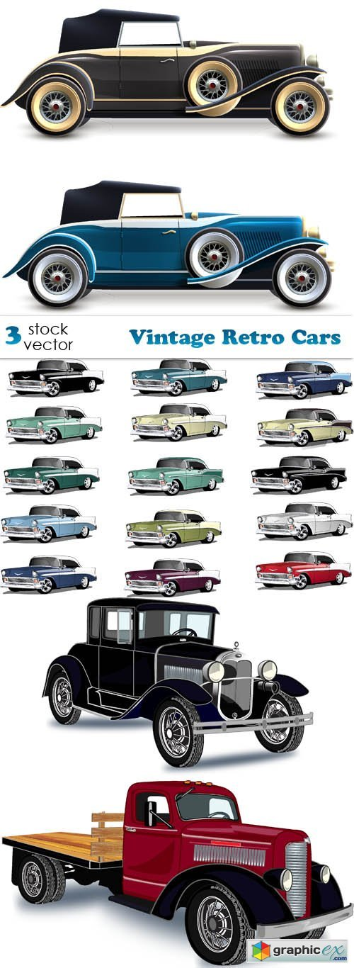 Vintage Retro Cars