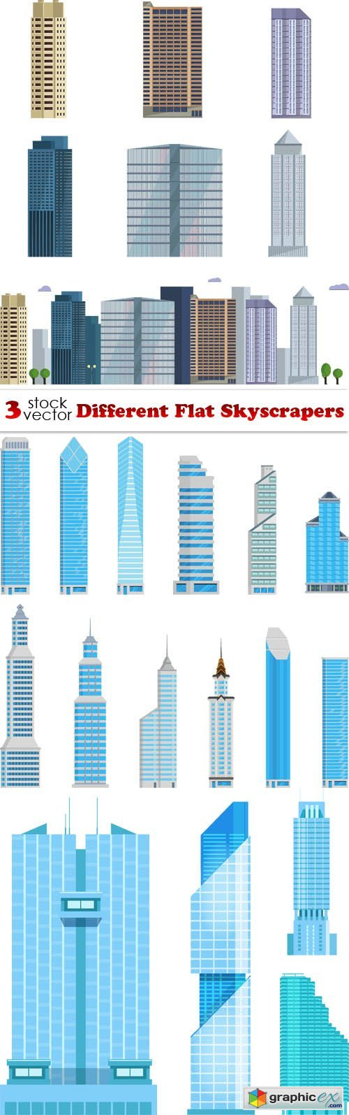 Different Flat Skyscrapers