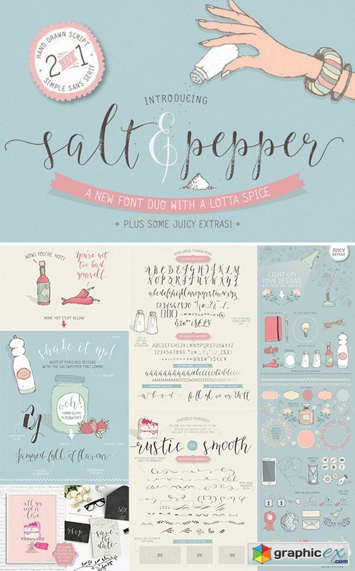 Salt & Pepper font duo