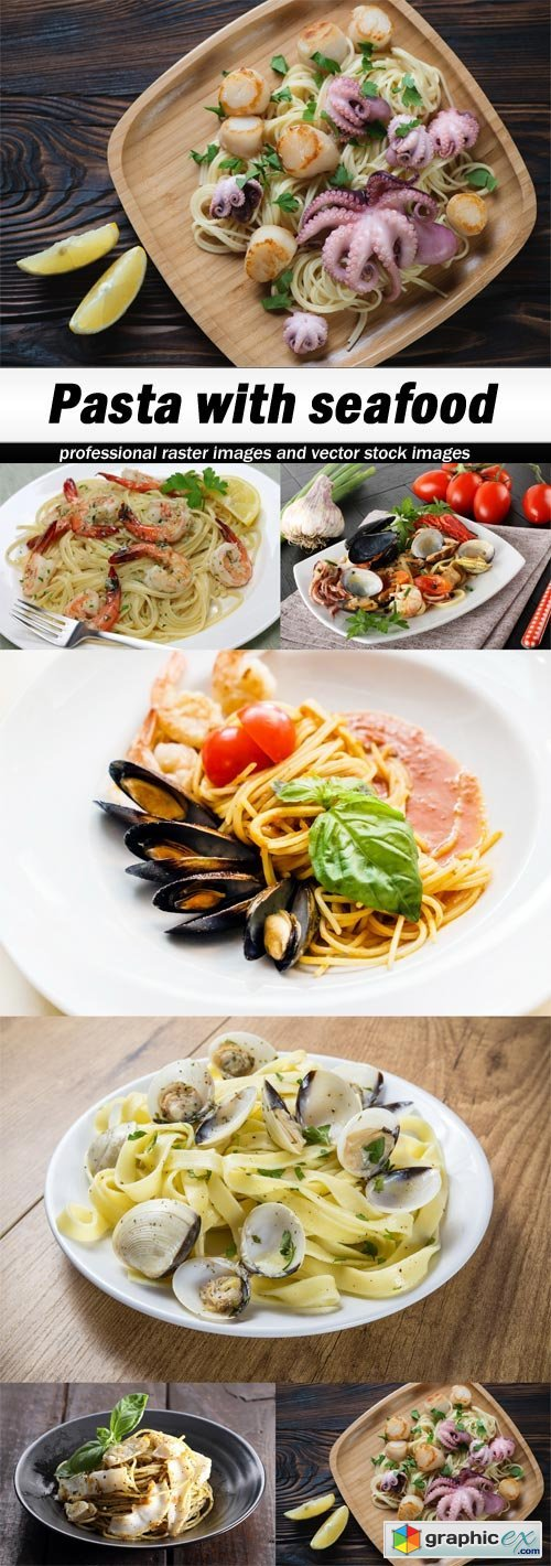 Pasta with seafood - 6 UHQ JPEG