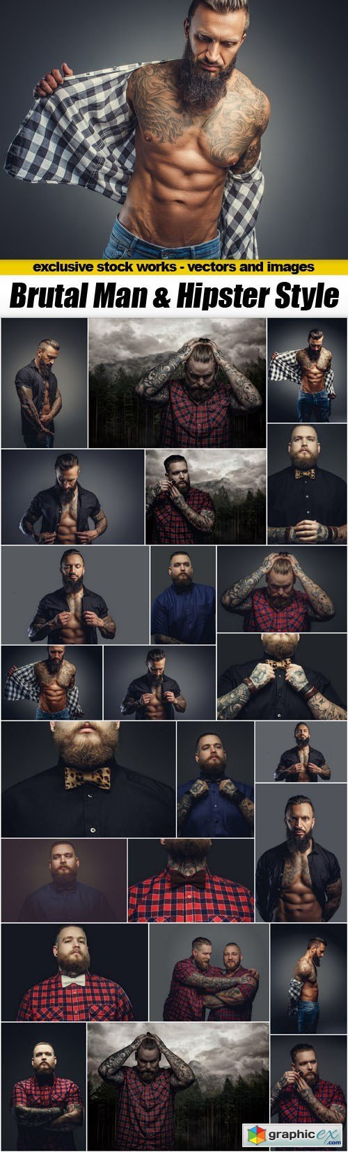 Brutal Man & Hipster Style - 25xUHQ JPEG