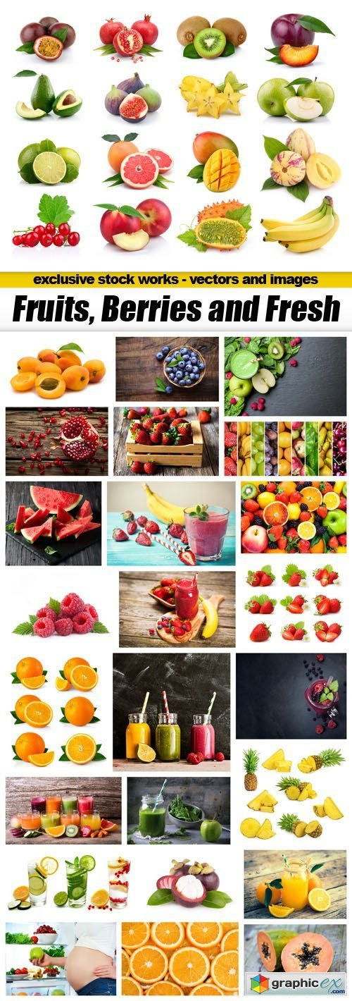 Fruits, Berries and Fresh - 25xUHQ JPEG