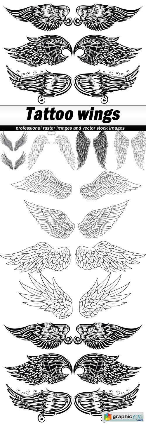 Tattoo wings - 5 EPS