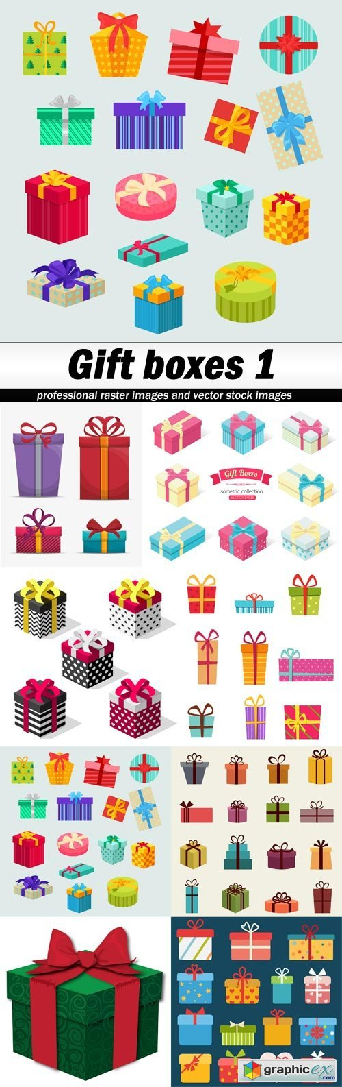 Gift boxes 1 - 8 EPS