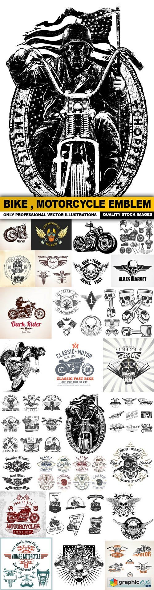 Bike , Motorcycle Emblem Collection