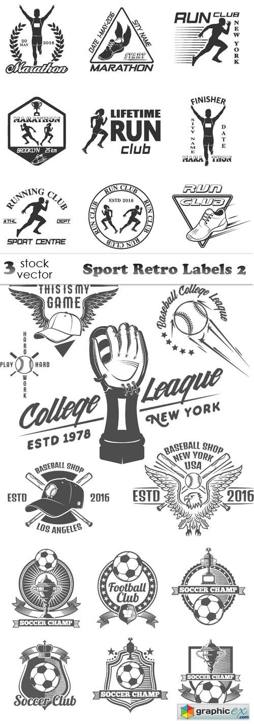 Sport Retro Labels 2