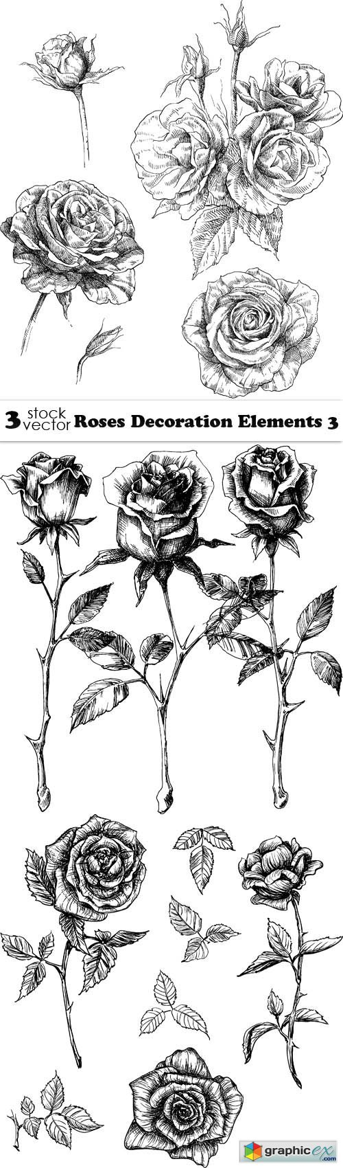 Roses Decoration Elements 3