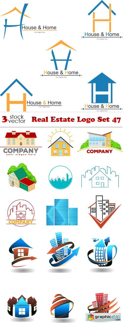 Real Estate Logo Set 47