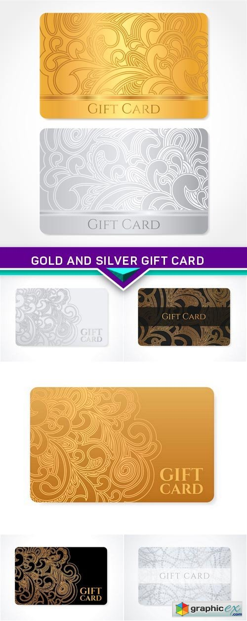 Gold and silver gift card 6X EPS