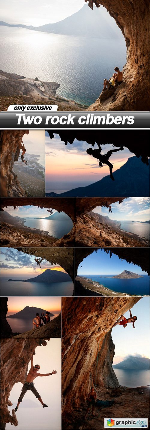 Two rock climbers - 10 UHQ JPEG